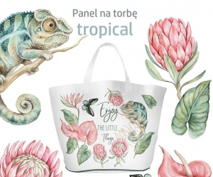Panel Wykrój Na Torbę Tropical