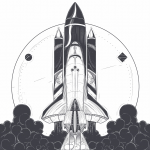 Ink Collection 50x50 Rocket Launch